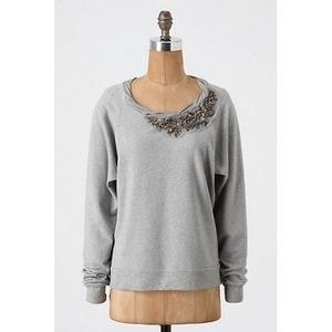 Ella Moss gray embellished sweatshirt - Large